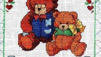 punto croce con orsetti