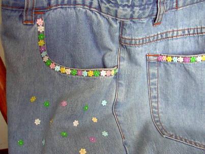 dettaglio borsa in jeans