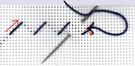 punto croce reversibile (a doppia faccia) – l'angolo di stefania