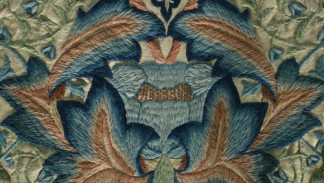 dettaglio William Morris wall hanging - V&A Museum
