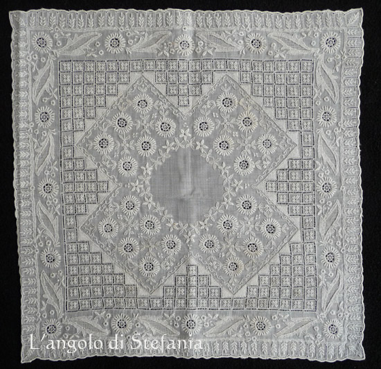 fazzoletto vintage, vintage handkerchief