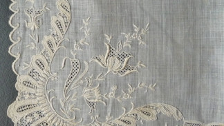 fazzoletto ricamato, embroidered handkerchief