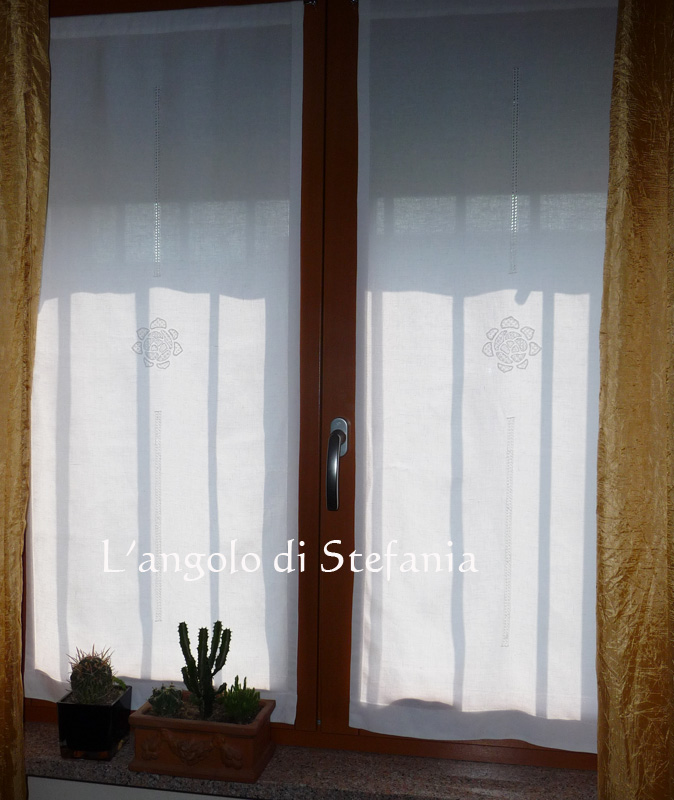 tenda porta finestra : Tenda con le rose ? Langolo di Stefania