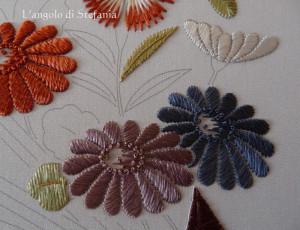 Ricamo giapponese - i crisantemi
