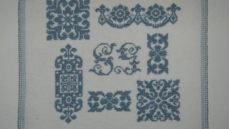 sampler blu punto croce