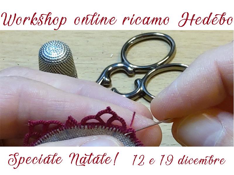 Workshop online ricamo Hedebo
