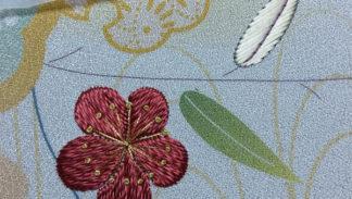 fiore di pruno, ricamo giapponese